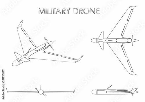 Fotografie, Tablou  Military drone eagle.