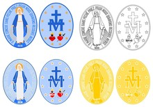 Our Lady Of Grace Medal Colore...