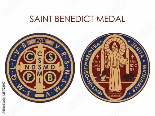 Saint Benedict Medal Canvas Print