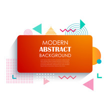 Abstract Red Rectangle Geometric Pattern Design And Background. Use For Modern Design, Cover, Template, Decorated, Brochure, Flyer.