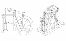 Wood Beam Engine Original