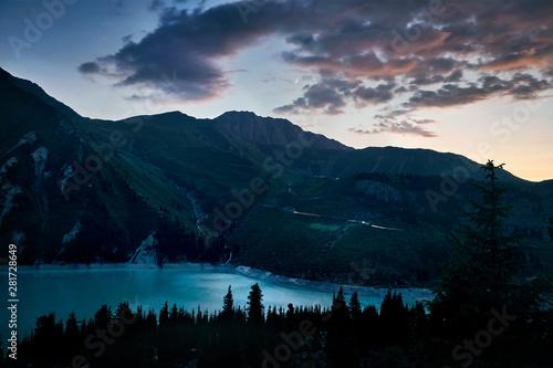 Fototapeta Big Almaty Lake in Kazakhstan obraz na płótnie