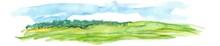 Hand Drawn Watercolor Landscape