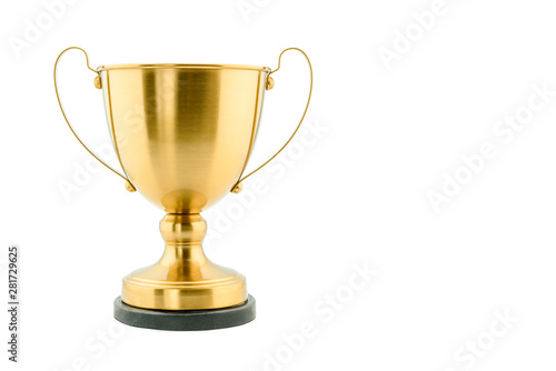 Leinwand Poster Brass steel trophy, dual handle neo-classic, isolated on white