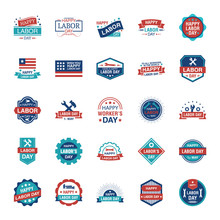 Labor Day Labels Pack