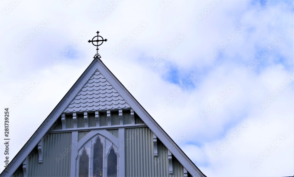 Fototapety, obrazy: shot of religious christian or catholic chapel and altar for worshippers