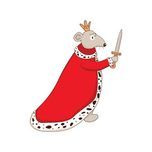 Cute Cartoon Character Mouse King