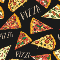 Seamless pattern with slice...