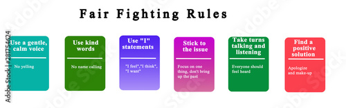 Six Rules for. Fair Fighting Canvas Print
