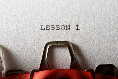 Stampa su Tela Lesson 1 concept