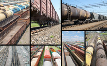 Freight Trains Collage