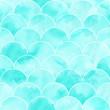Leinwanddruck Bild - Turquoise sea wave geometric texture. Fish scale seamless pattern.