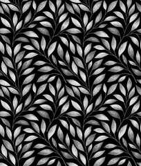 Obraz na Szkle Liście Seamless pattern with stylized tree branches. Watercolor illustration.