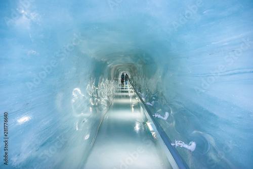 Fototapeta Jungfrau Ice Palace. A great cave under Jungfrau peak in Switzerland obraz