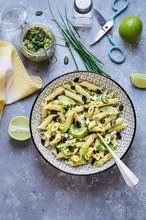 Pasta Salad With Mozzarella And Mackerel