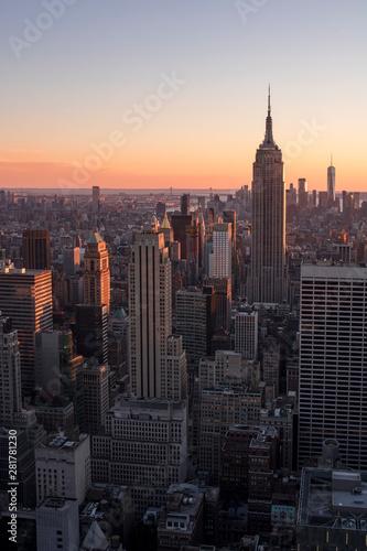 Atardecer en Empire State. New York
