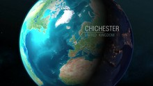United Kingdom - Chichester - Zooming From Space To Earth