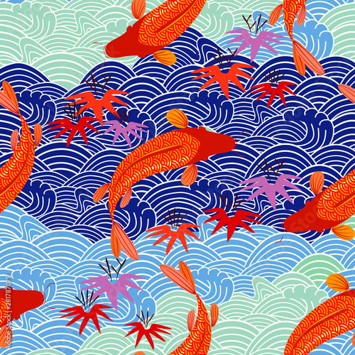 Carp, red fish, goldfish Wallpaper Mural