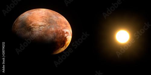 Vászonkép  Scorching Hot Hellish Deformed, Evaporated Planet