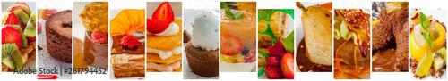 Valokuva  Collage de desserts