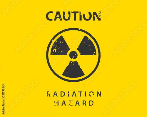 Radiation icon vector. Warning radioactive sign danger symbol. Canvas-taulu