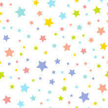Cute Seamless Pattern With Stars. Vector Illustration
