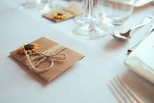 Wedding Table Decor With Sunfl...