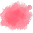 canvas print picture - Irregular pink paint stain on a white background