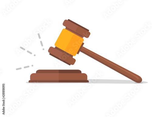 Photo Judje hammer icon law gavel