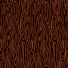 Seamless Pattern, Tree Texture In Brown Tones