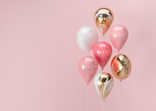 Set Of Colorful Balloons With ...