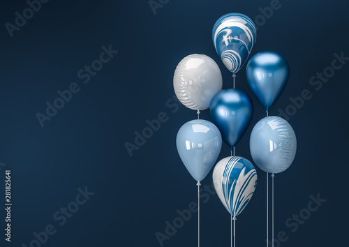 Fotografia Set of colorful balloons with empty space for text