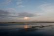 Abendstimmung über der Lagune von Strofilia, Peloponnes, Griechenland - evening mood at Strofilia, Greece