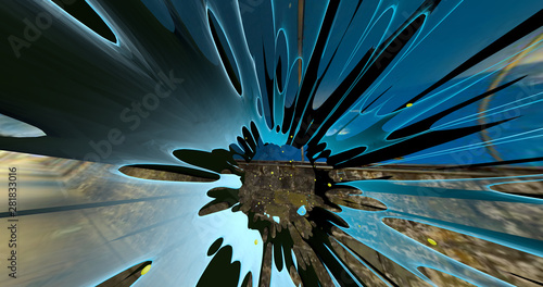 Obraz An abstract scene of a colorful explosion on the universe. - fototapety do salonu
