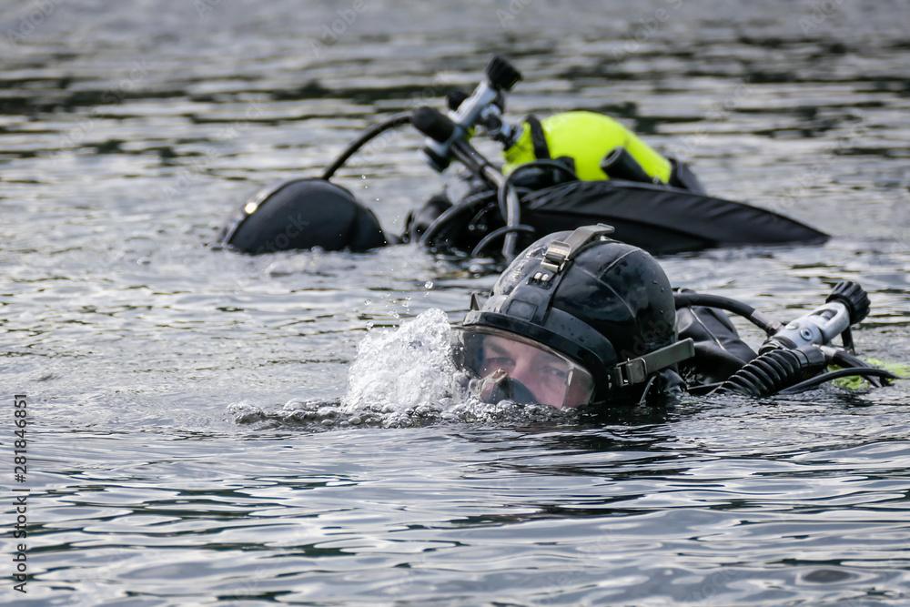 Fototapeta Police Dive Rescue