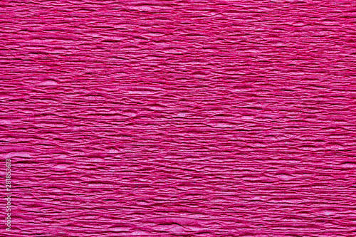 Poster Rose Abstract textured background of the close up detail of a sheet of pink crepe paper