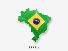 Brazil Detailed Map With Flag ...