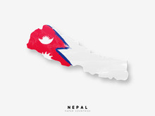 Nepal Detailed Map With Flag O...