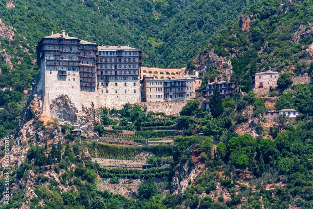 Fototapety, obrazy: Simonopetra (Simonos Petra) Monastery in Athos, Chalkidiki, Greece