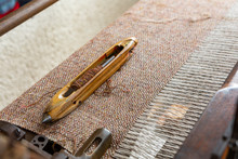 Traditional Weaving Loom And S...