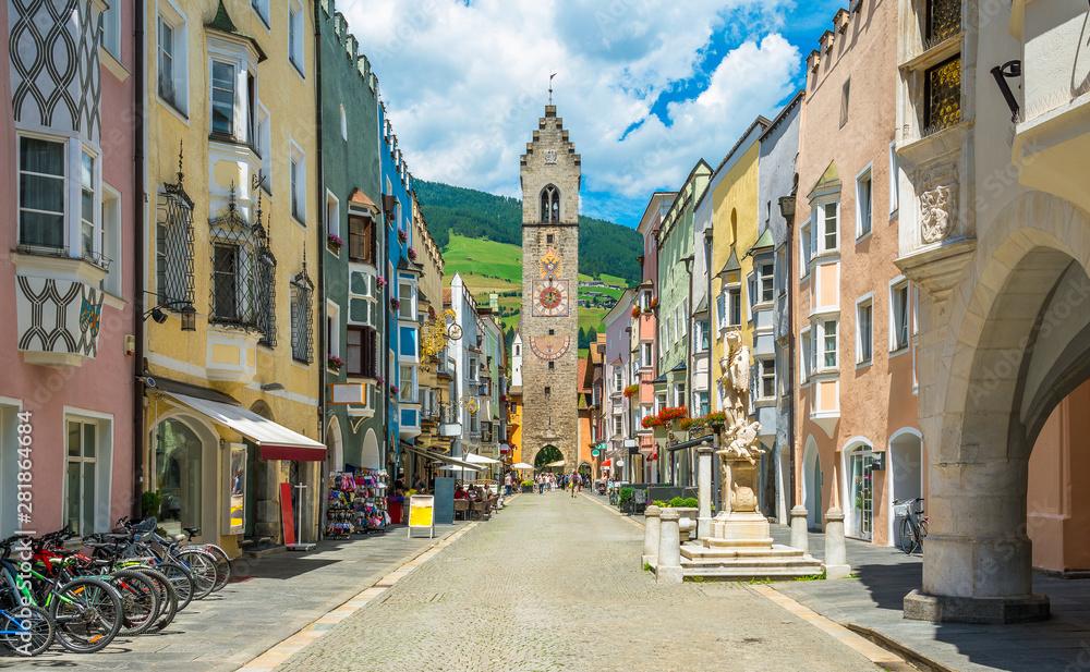 Fototapeta The colorful town of Vipiteno, Trentino Alto Adige, northern Italy