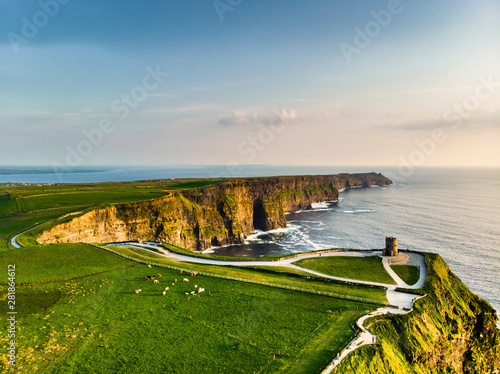 Canvas World famous Cliffs of Moher, one of the most popular tourist destinations in Ireland