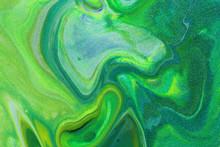Swirling Neon Green And Yellow...