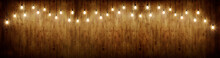 Wooden Banner Background With ...