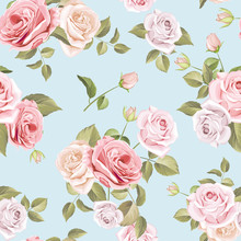 Beautiful Roses Seamless Pattern