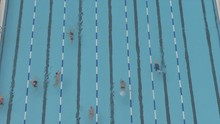 Shot Of Swimmers From Elevated...