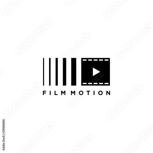 Obraz na plátně  Film motion logo template