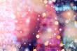 Leinwandbild Motiv Christmas Background with bokeh light; Blurred Xmas background