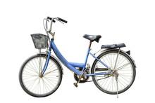 Old Retro Style Bicycle Isolat...