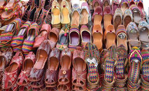 Photo  image of indian punjabi shoes jutti called in local language